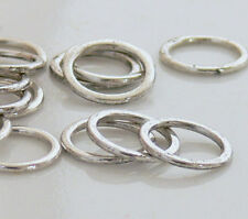 15mm Ring Antiqued Silver Metal Beads 20 Link Connectors