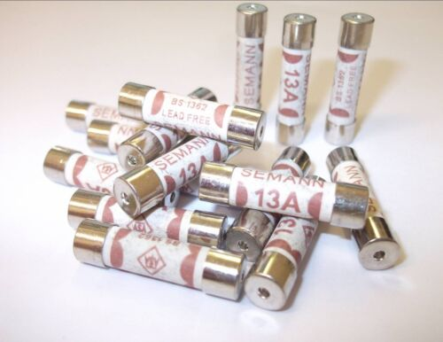 1 Amp,2 Amp,3 Amp,5 Amp,7 Amp,10 Amp,13 Amp BS1362. Household Plug Top Fuses