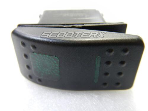 Green Off-On-On 3 Position Rocker Switch 6 Pin Lighted Malibu Mastercraft Light