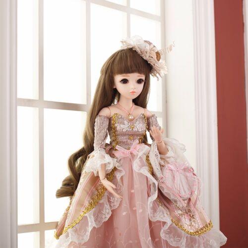 60cm 1//3 BJD Doll Reborn Mädchen Puppen Mit Make-Up Hochzeit Kleid Braut Toy Neu