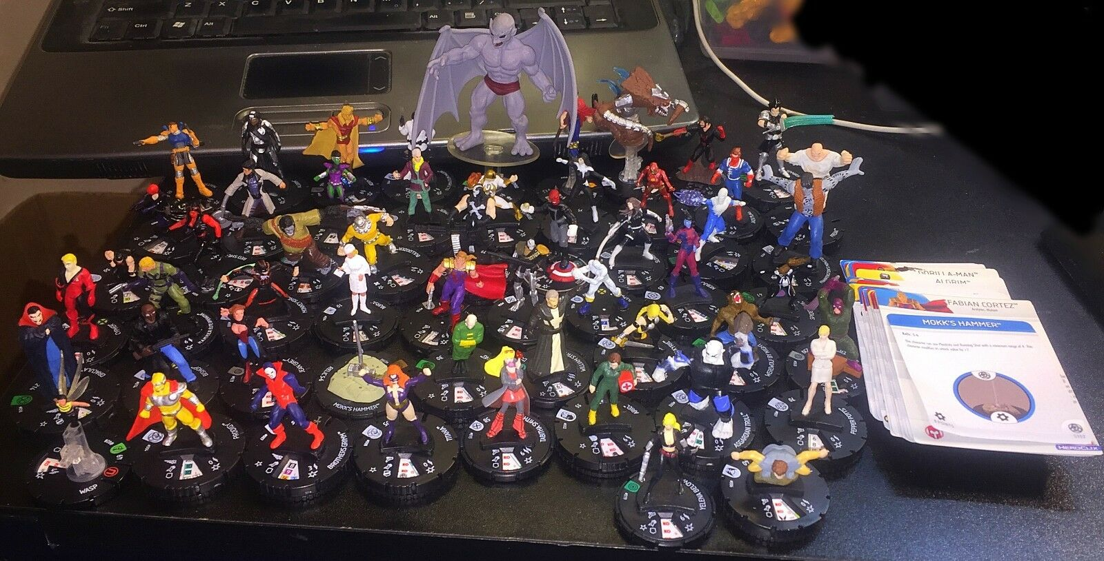 Marvel HeroClix Lot of 55 Figures Iron Fist ROT She Hulk Wasp ROT Skull Valkyrie