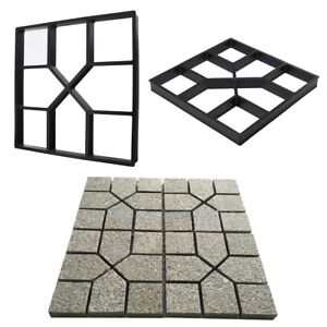 Paving-DIY-Plastic-Path-Maker-Stone-Pavement-Garden-Stepping-Mold-Patio-Driveway
