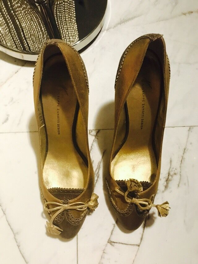 Giuseppe Zanotti Gold Disco Heels Shoes Pumps Sz40