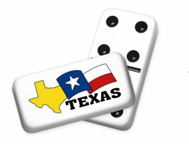 Professional Dimensione Double 6 State of Texas Dominoes