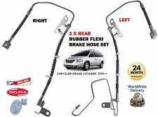 FOR CHRYSLER GRAND VOYAGER 2000-2008 LEFT & RIGHT 2 REAR FLEXI RUBBER BRAKE HOSE
