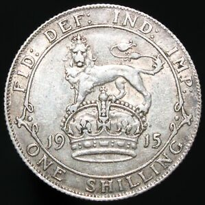 1915-George-V-One-Shilling-Silver-Coins-KM-Coins
