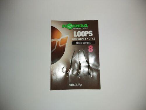Korda Loops Wide Gape X Micro Barbed Rig Ready Rigs Vorfach Karpfenrig