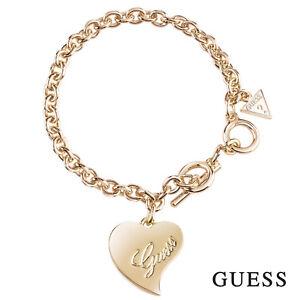 GUESS-Damen-Armband-Armkette-Schmuck-Metall-Gold-Herz-UBB71531