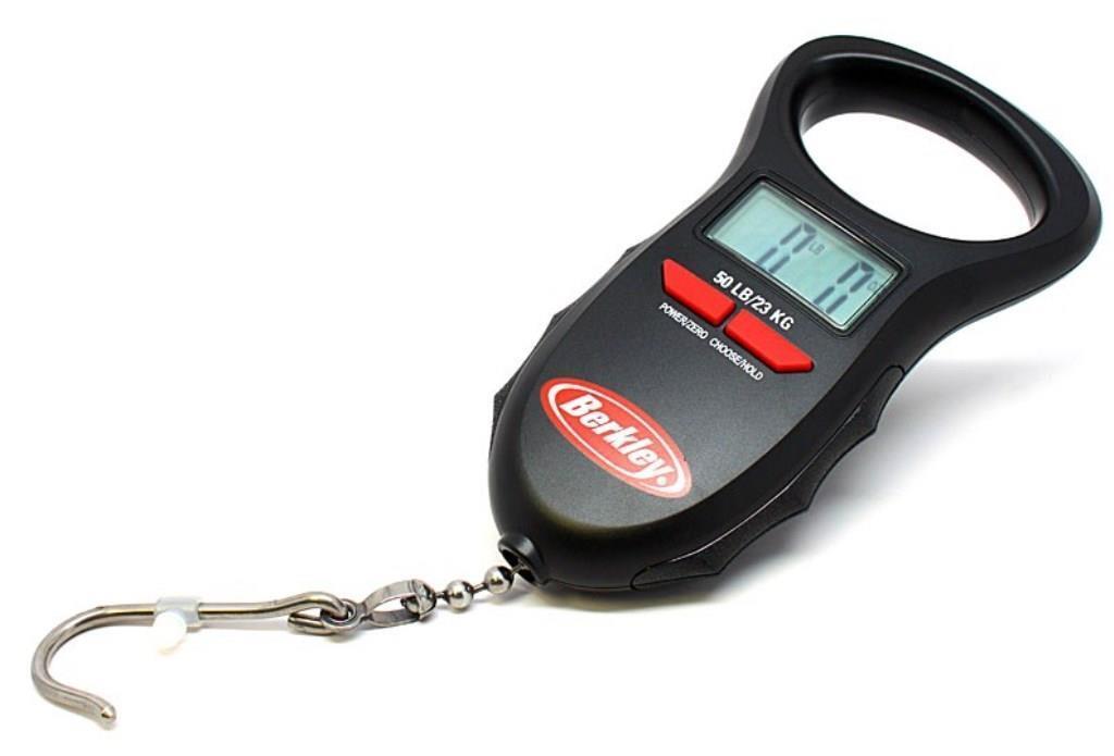 Berkley BDTFS50-1 Digital Fishing Scale 50lb Capacity Lbs Oz Kg Auto-Save Memory