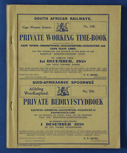 South-African-Railways-Working-Time-Book-Cape-Western-230-1st-December-1958
