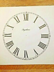"4 1/2"" Ingraham Clock Paper Dial, Roman Numeral            (Lot 191)"