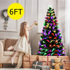 9d55067b218e 6ft LED Fiber Optic Artificial Christmas Tree Blossom Effects W/ Top ...
