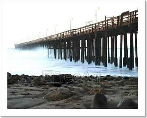 Image Is Loading Ocean Wave Storm Pier Art Print Home Decor
