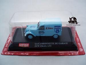 Miniature Voiture Camionette 2CV CITROEN AZU Baroclem Accus Garage Moderne 1//43e