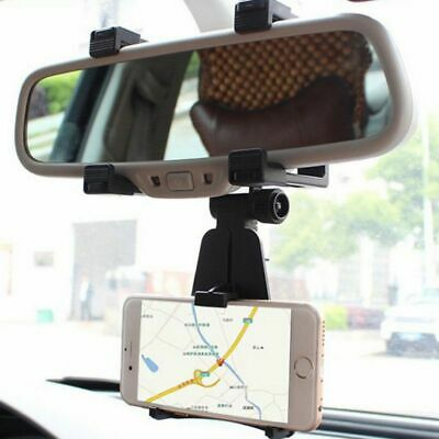 Universal Auto/&Car Rear View Mirror Mount Stand Holder Cradle For Cell-Phone GPS