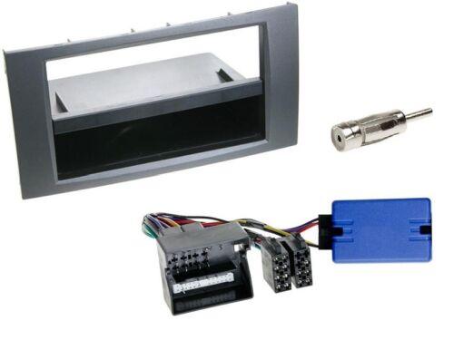 jd3 Facelift Kit de montage radio 1 DIN avec FECS pour FORD FIESTA 2006-2008 Anthracite
