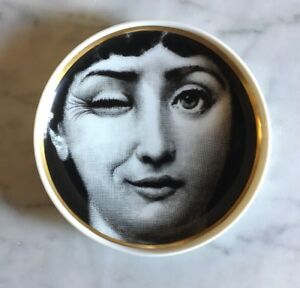 VINTAGE-Coupelle-Porcelaine-FORNASETTI-Cavalieri-ROSENTHAL-Wink-Plate-Porzellan