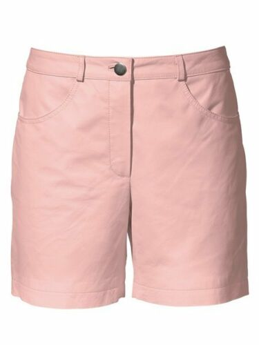 Heine Lederhose Gr 34-46 rosa rose Ledershorts Shorts Leder Hose NEU