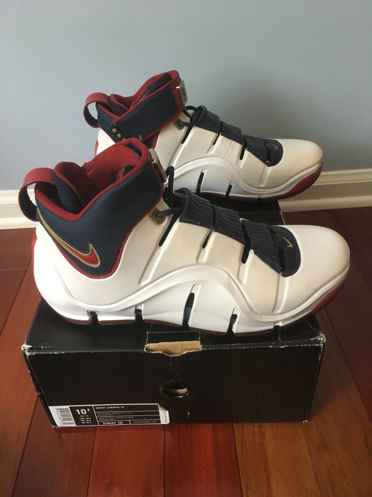 NEW Lebron IV Remix Playoff Size 10.5 Nike Air shoes 4 NIB Playoffs