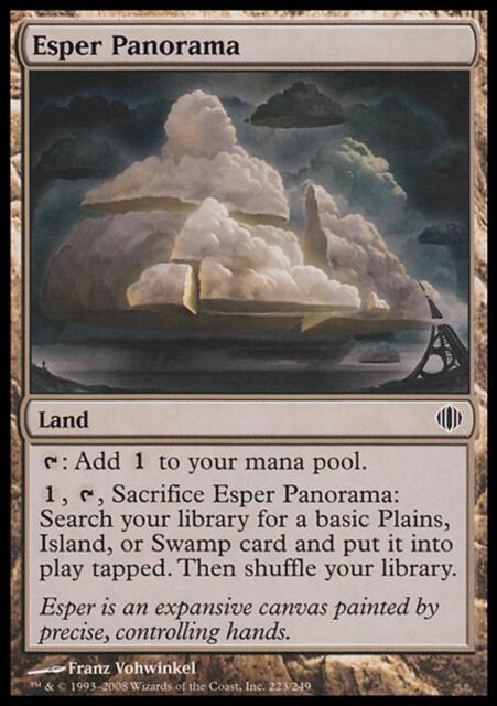 MTG Magic - (C) Shards of Alara - Esper Panorama - SP
