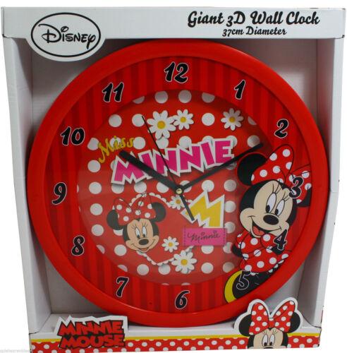 MINNIE Mouse Orologio da Parete XXL 37 cm Orologio riesenuhr Kinderuhr fanuhr DISNEY Rocailles mouse