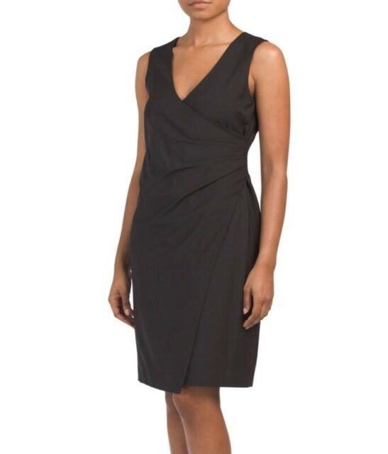 Theory Karianna In Black Adiran Suiting Stretch Wool Sheath Dress 8