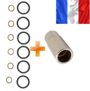 Douille-pompe-a-injection-Bosch-MERCEDES-6-joints-torique-6-rondelles-cuivre