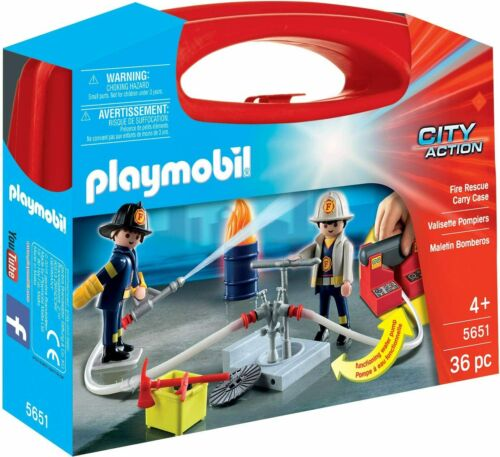 Playmobil 5651 City Action Large Fire Rescue Carry Case with Function Pump