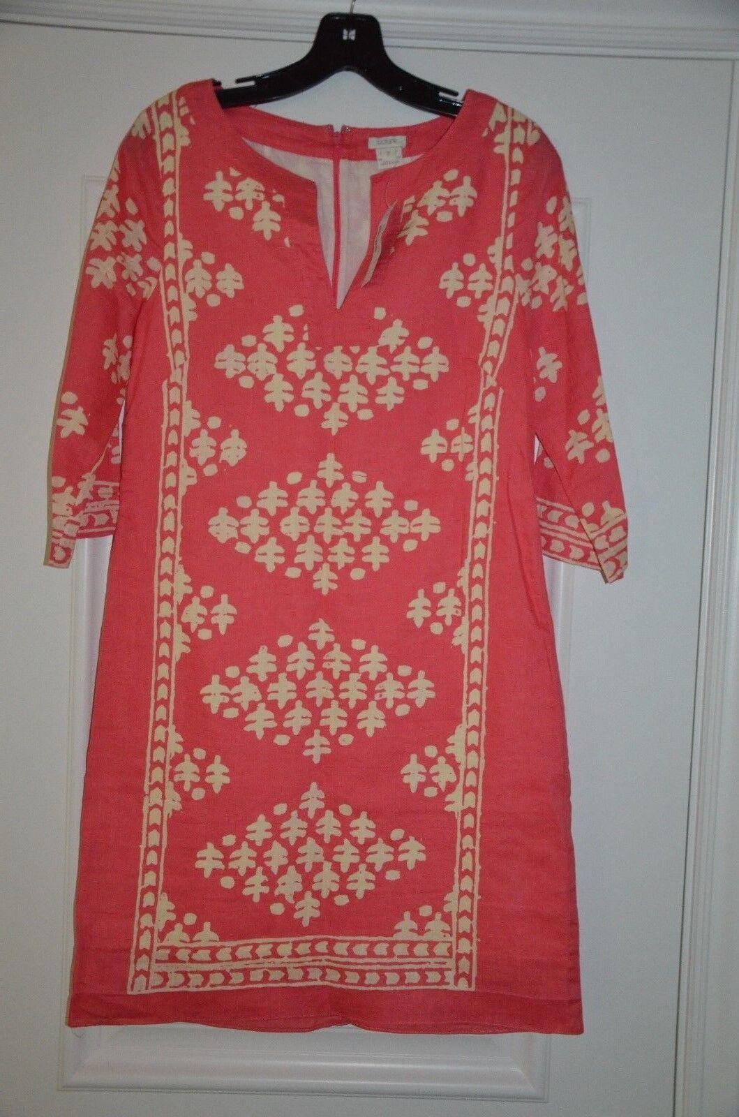 J.CREW Java Tunic Dress Neon Rosa 2