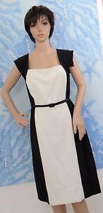 bf59cd75904 SINGLE DRESS black white color block belted cap sleeve Veronika ...