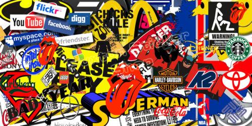 2 x Sticker Bombing Bomb  Euro Drift Vinyl Decal  vw vag ford vauxhall honda