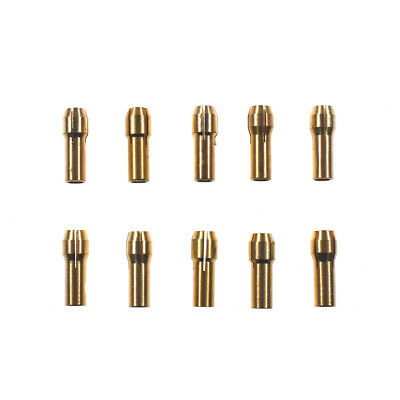 10x Brass Drill Chucks Collet Bit 0.5-3.2mm 4.8mm Shank Fits Dremel Rotary Tool