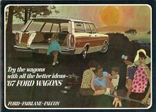 Ford Wagons 1967 USA Market Sales Brochure Falcon Fairlane Ranch Country Squire