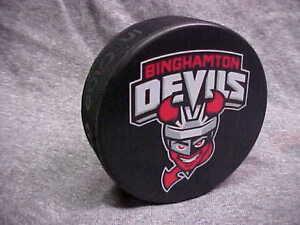 2017-AHL-Binghamton-Devils-New-Jersey-Devils-Collectors-Souvenir-Hockey-Puck