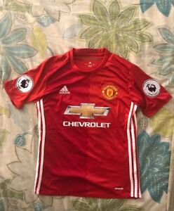 9fdc4889e Adidas Manchester United Home 16 17 EPL Patches Jersey Size Small