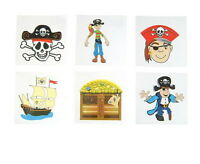 144 Pirate Temporary Tattoos Party Favor Vending Each Has Instructions Free Ship