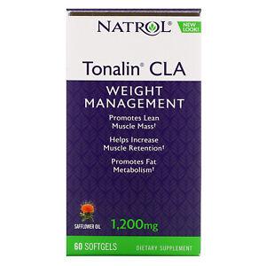 Natrol Tonalin CLA 1 200 mg 60 Softgels Egg-Free, Fish Free, Gluten-Free,