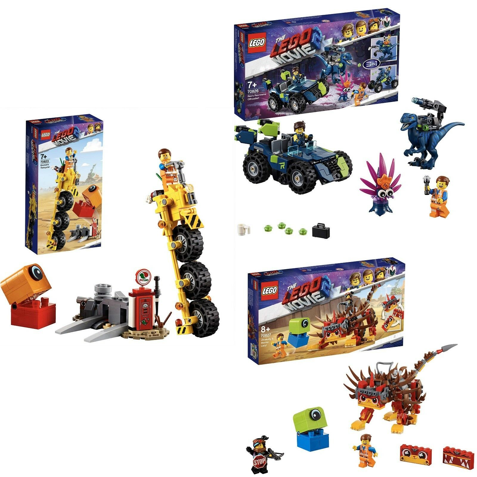 LEGO® THE LEGO® MOVIE 2™ - 70823 + 70826 und 70827LEGO®  3-ER SET NEU