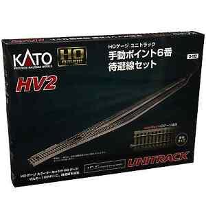 Kato-3-112-HV2-Passing-Siding-Track-Set-With-6-Manual-Turnout-HO