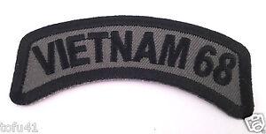 VIETNAM-68-Tab-Military-Veteran-Biker-Rocker-Patch-P2420-E
