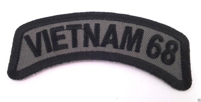 VIETNAM 68 Tab Military Veteran Biker Rocker Patch P2420 E