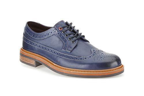 Clarks Herren Darby Limit Blau Brogue Lea Trendy & Smart Uk 7,8,9 G