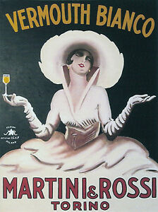Vintage-Vermouth-Drink-Ad-Art-deco-Canvas-Framed