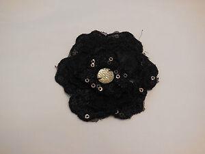 3D-couches-Noir-joaillerie-sequins-floral-organza-appliques-dentelle-dentelle