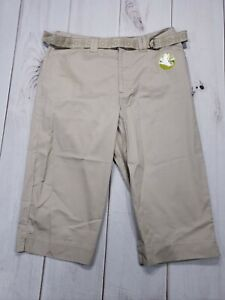 NWT-WHITE-STAG-Size-10-Inseam-17-Beige-Capri-Cropped-Stretch-Womens-Pants-Career