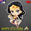 Wonder Woman Comic Skateboard Luggage Car Fridge Laptop 3M Vinyl Decal Sticker