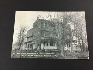 vintage postcard artist Rothermel Home Studio Parkerford PA 1908 posted RPPC
