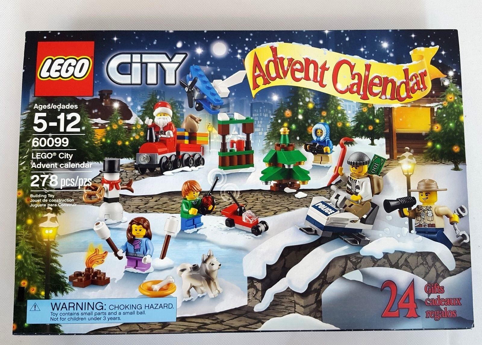 LEGO CITY 2015 Christmas ADVENT CALENDAR Building Kit NEW SEALED in BOX