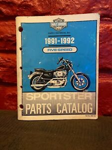 1991 1992 Harley Davidson Sportster Motorcycle Parts Catalog Manual 99451 92 Sfa Ebay