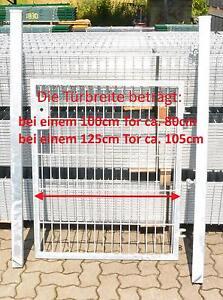 Doux Mattentür Porte Galvanisé Installation Largeur (incl Meneaux) 125cm X Hauteur 123cm-afficher Le Titre D'origine Grandes VariéTéS